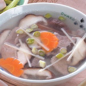 肉片鮮菇湯