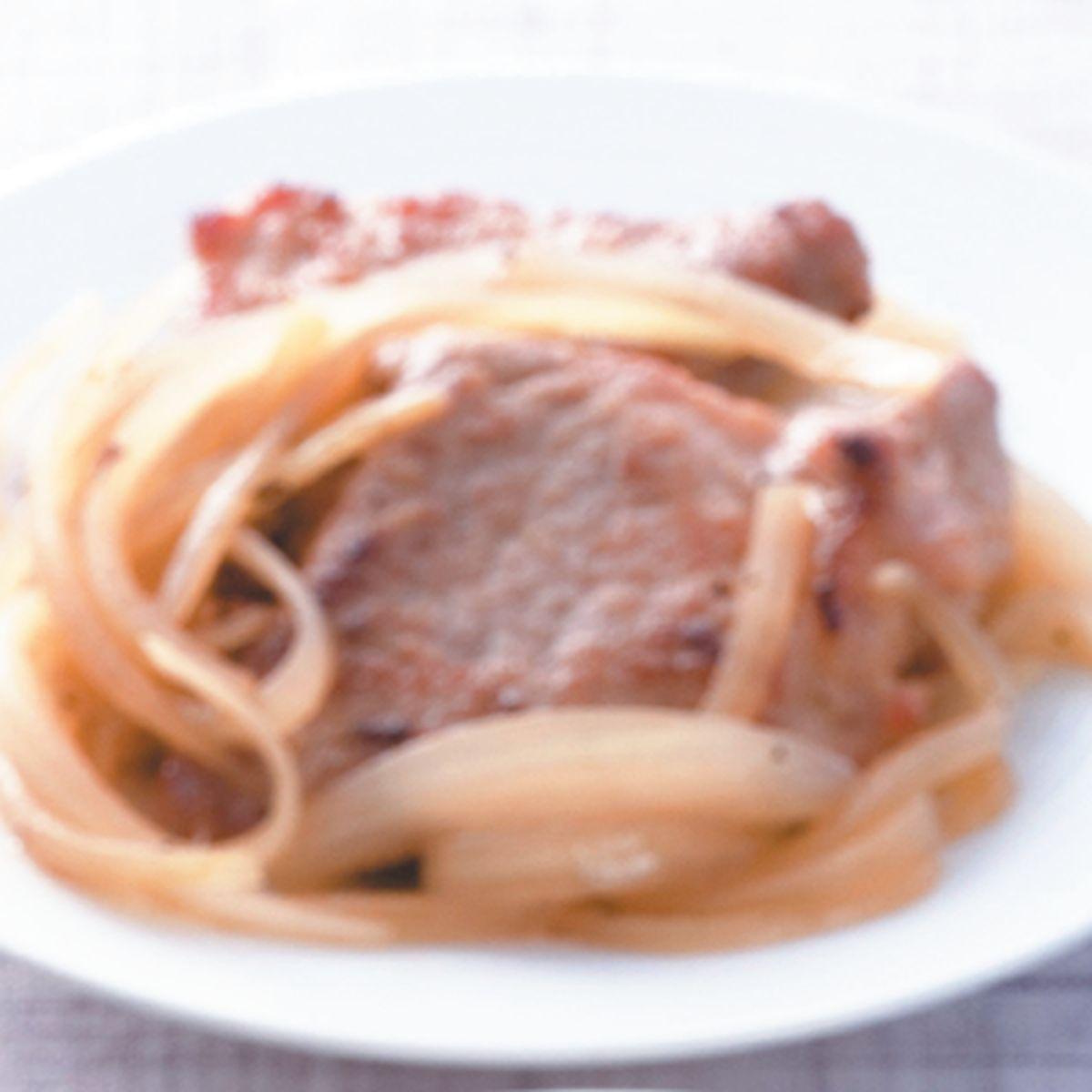 食譜:洋蔥煎豬排