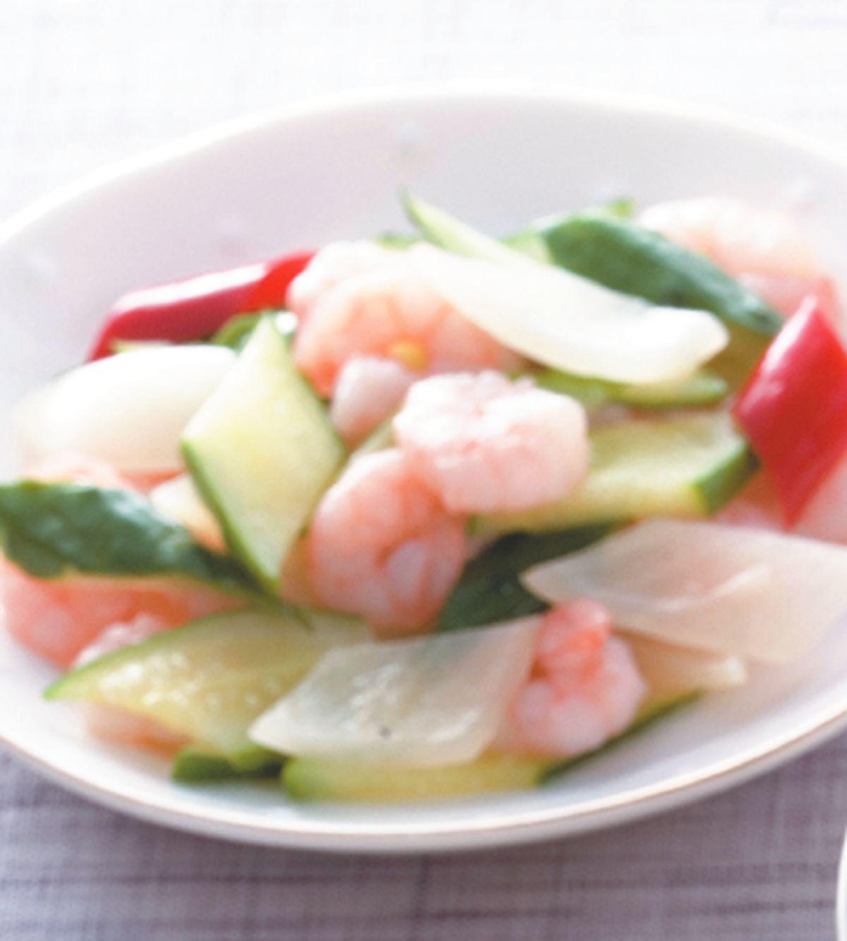 食譜:黃瓜炒蝦仁