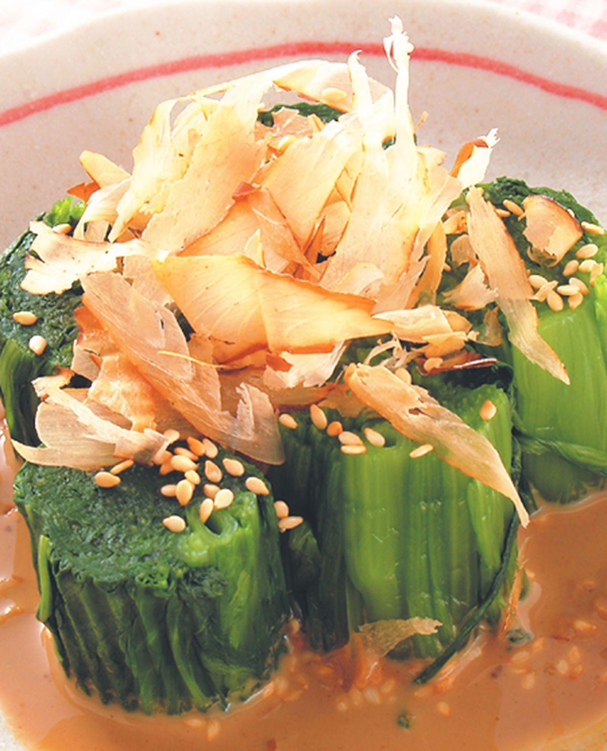 食譜:麻醬菠菜卷