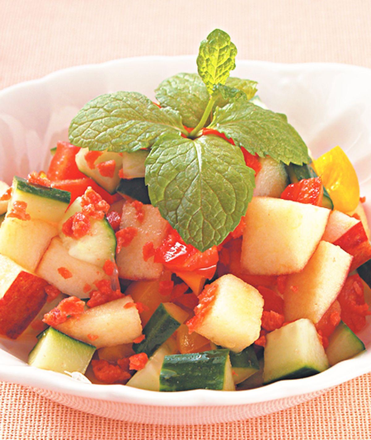 食譜:清涼黃瓜蘋果丁