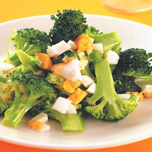 鹹蛋拌花椰菜