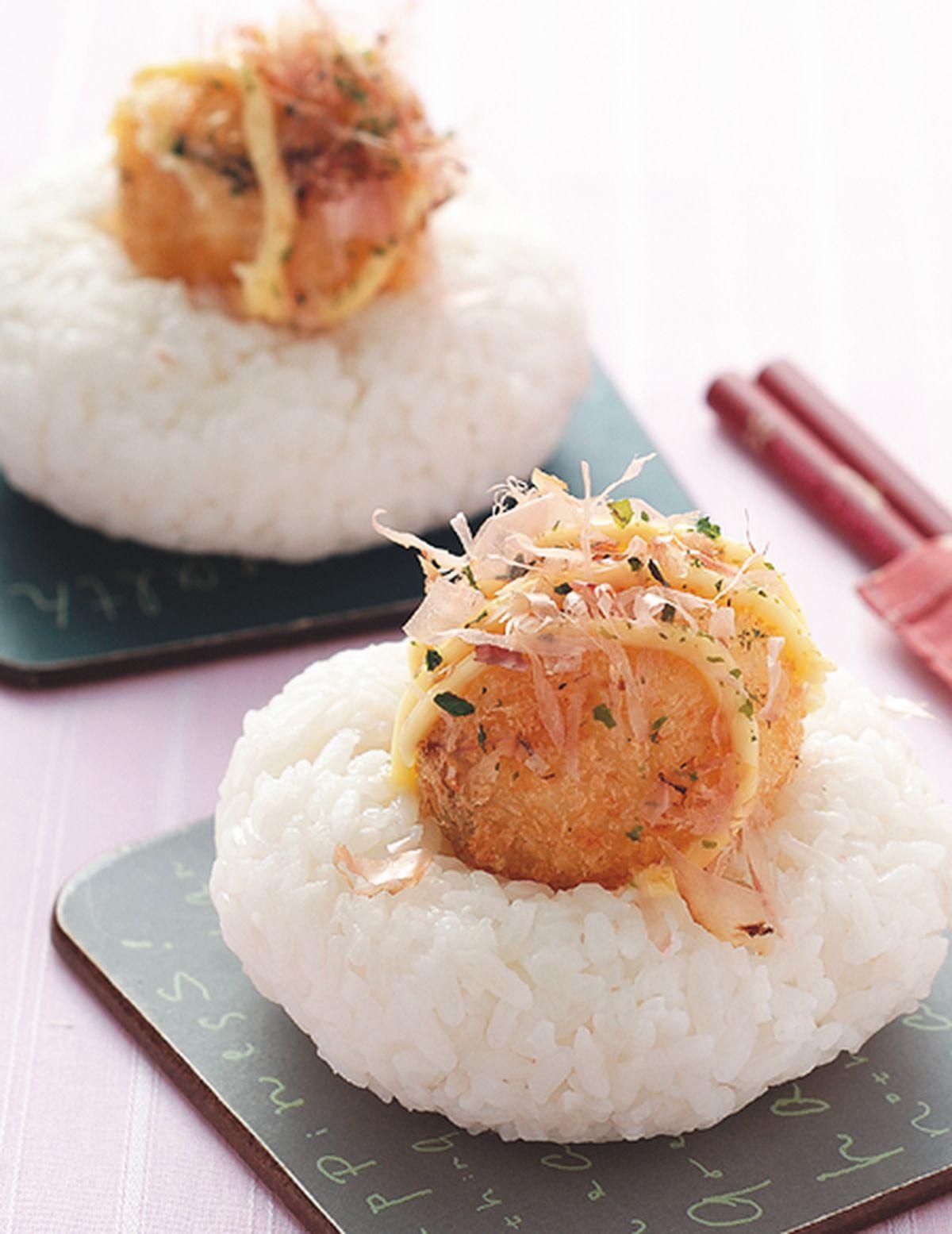 食譜:章魚燒飯糰