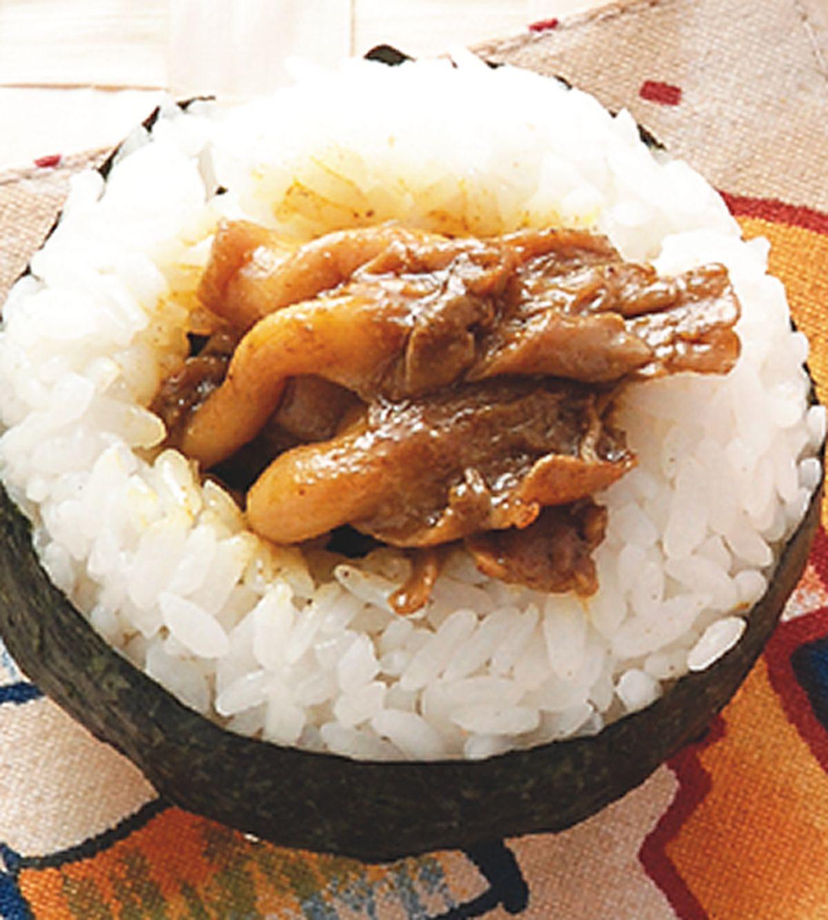 食譜:咖哩鮮菇飯糰