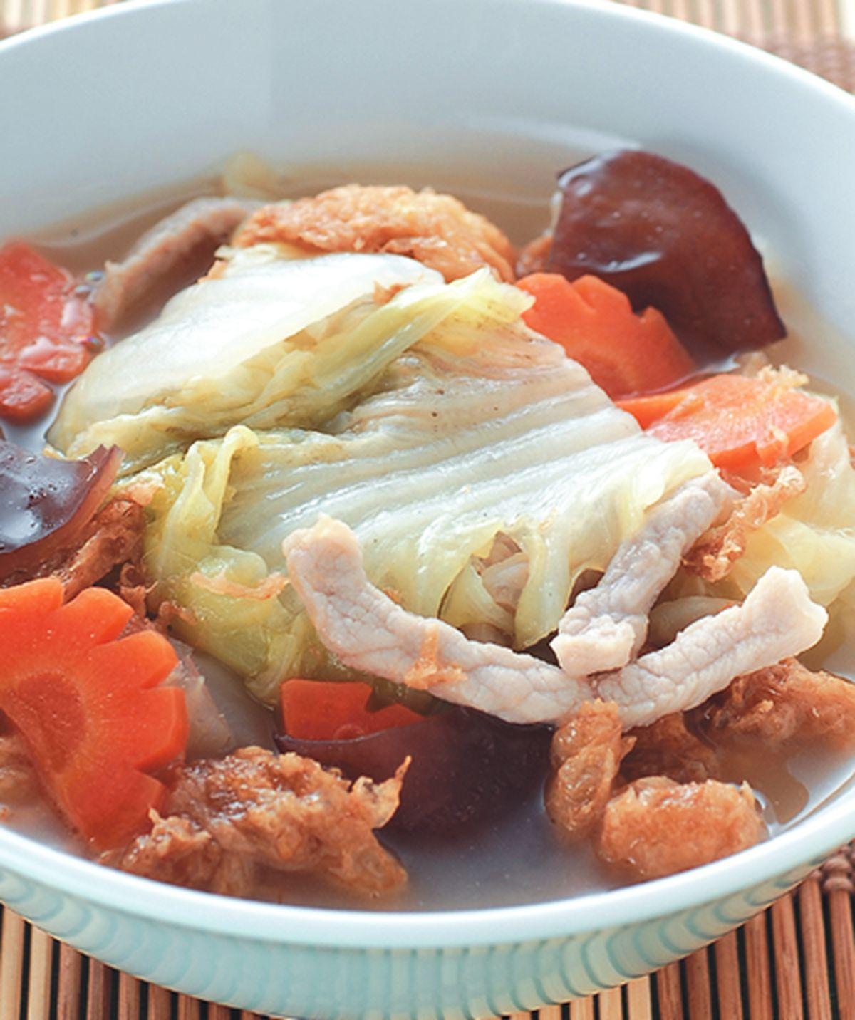 食譜:蛋酥滷白菜(1)