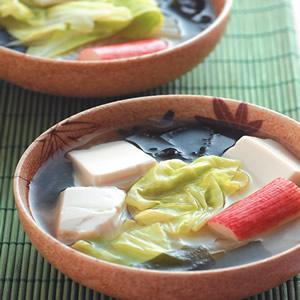 高麗菜味噌豆腐湯