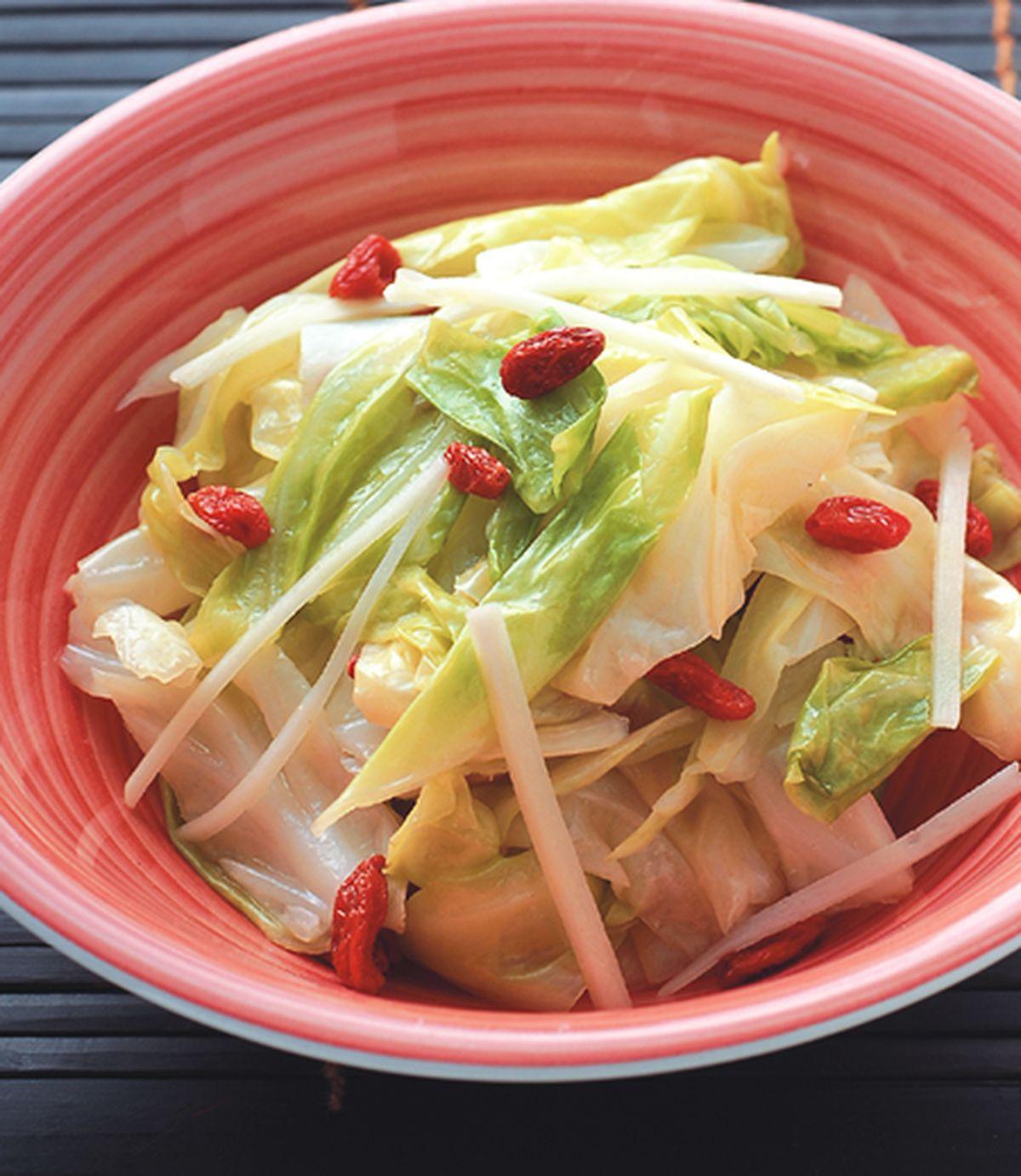 食譜:枸杞炒高麗菜