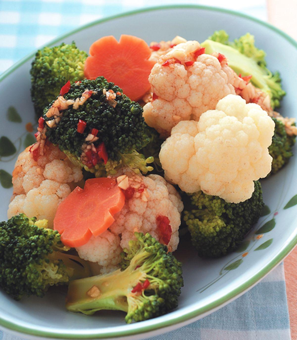 食譜:醬拌雙色花椰菜