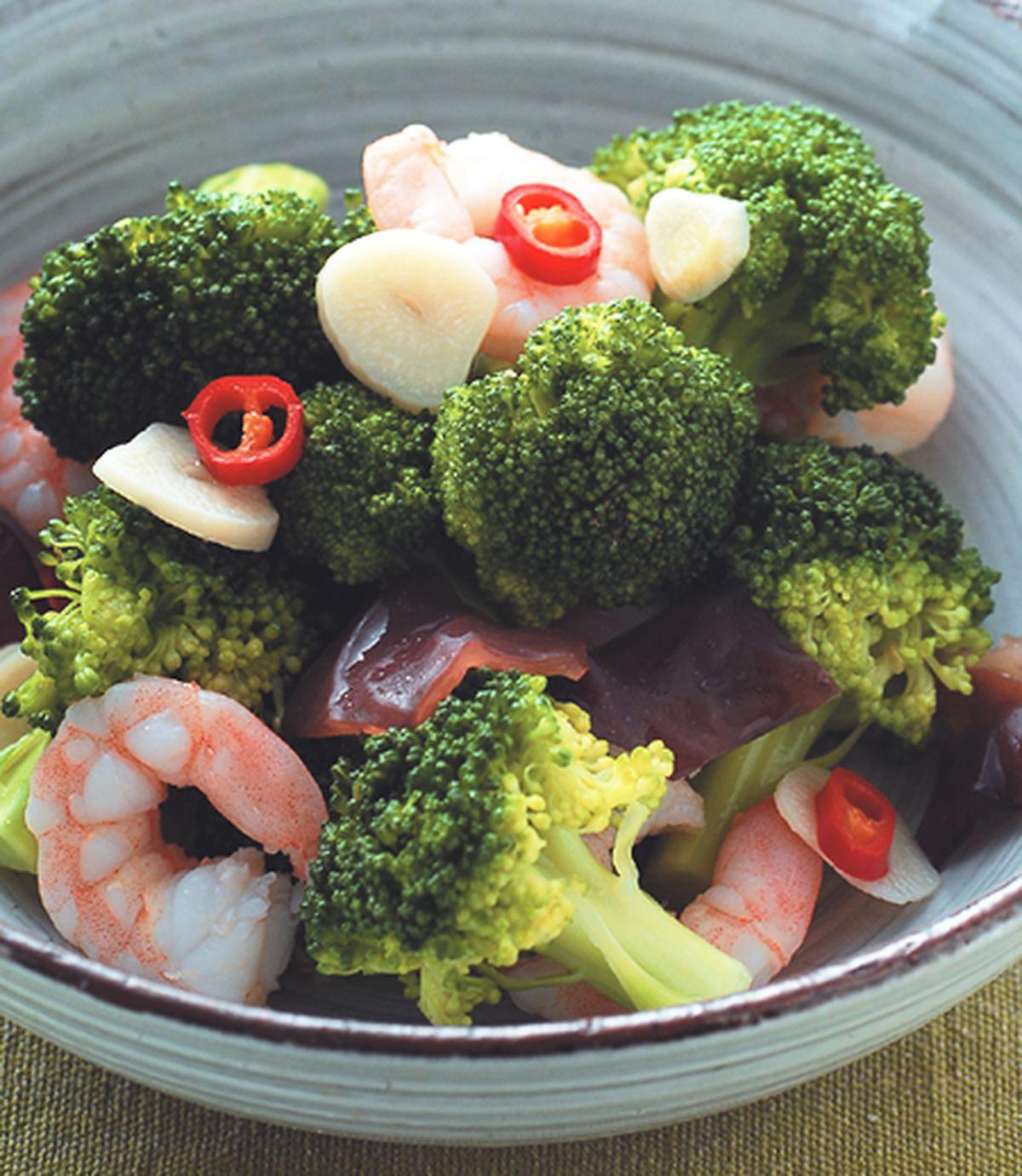 食譜:蝦仁炒花椰菜