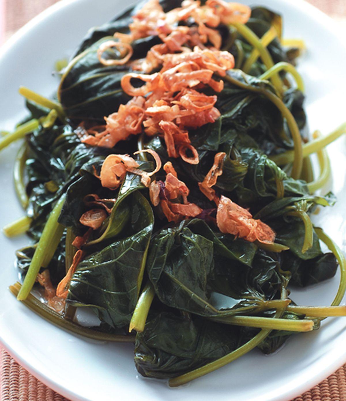 食譜:紅蔥油拌地瓜葉
