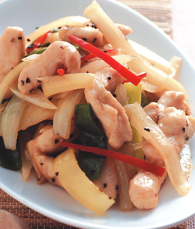 食譜:洋蔥胡椒雞柳