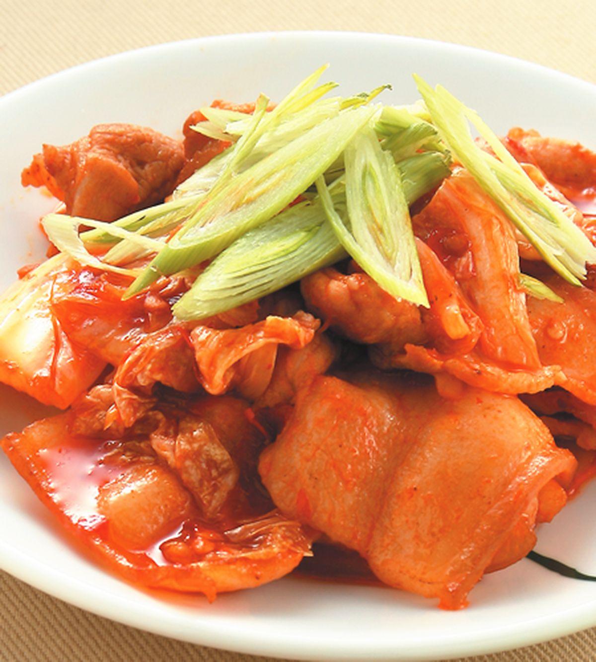 食譜:韓式泡菜炒肉片