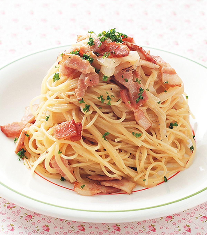 食譜:奶油培根義大利麵(1)