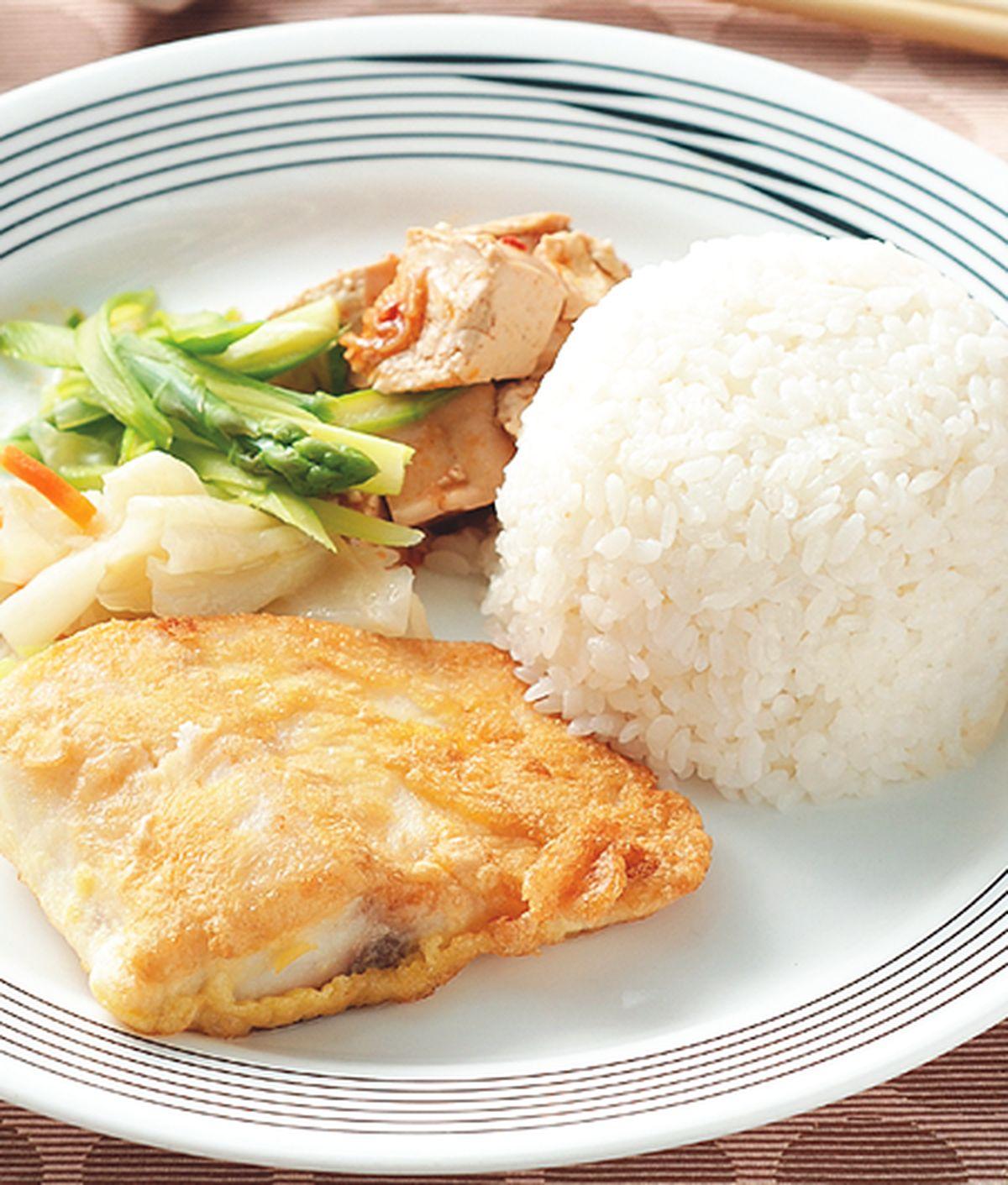 食譜:乾煎魚排飯