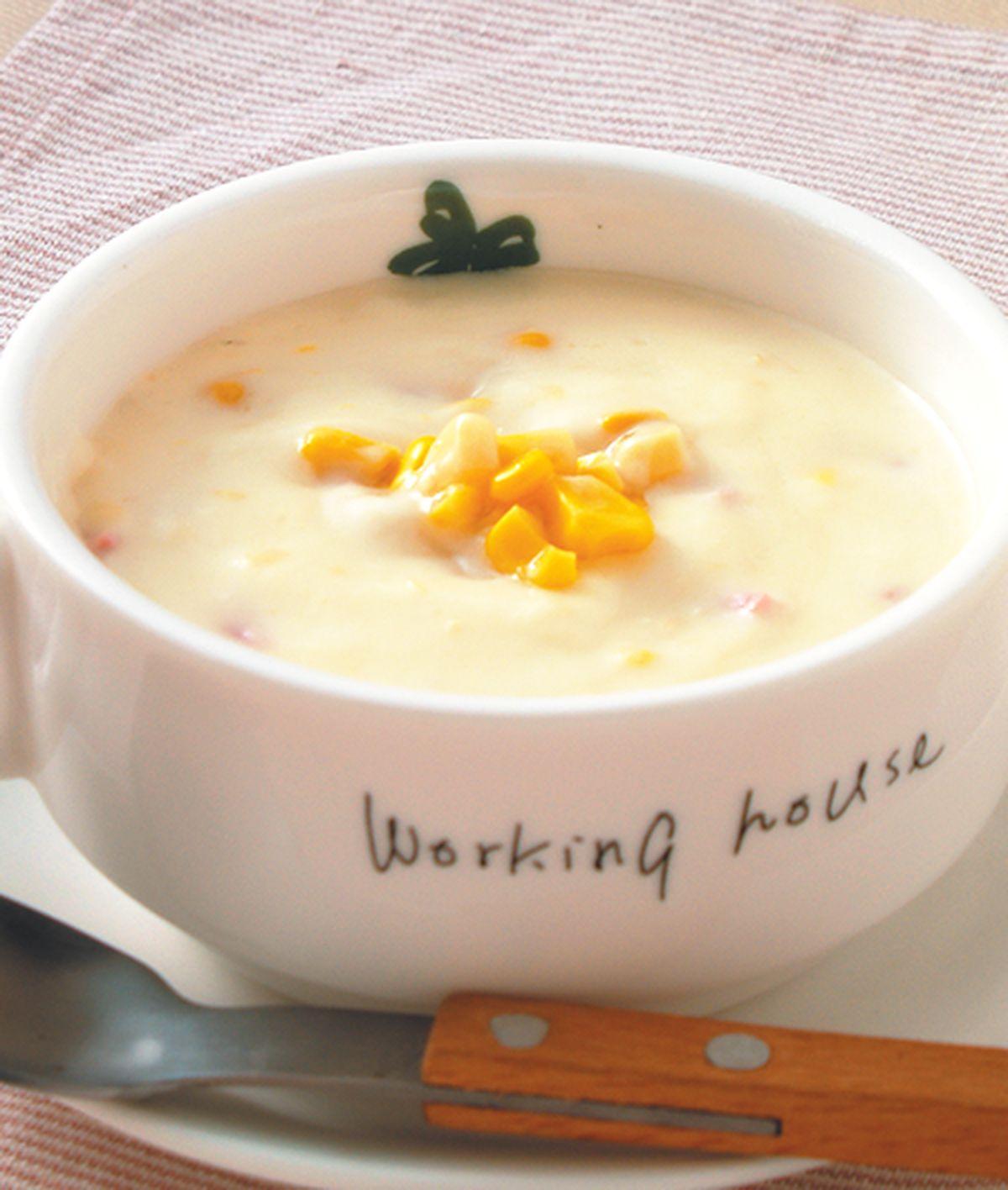 食譜:火腿玉米濃湯(1)