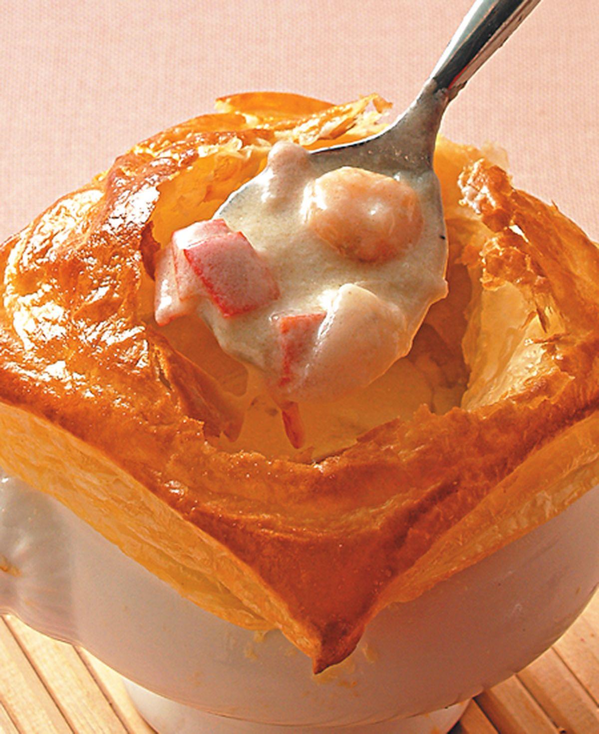 食譜:酥皮海鮮濃湯(1)