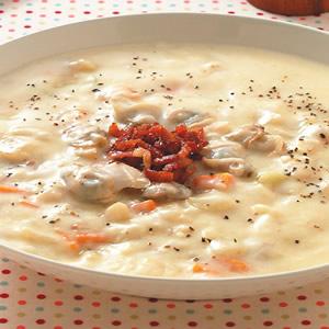 蛤蜊培根巧達濃湯
