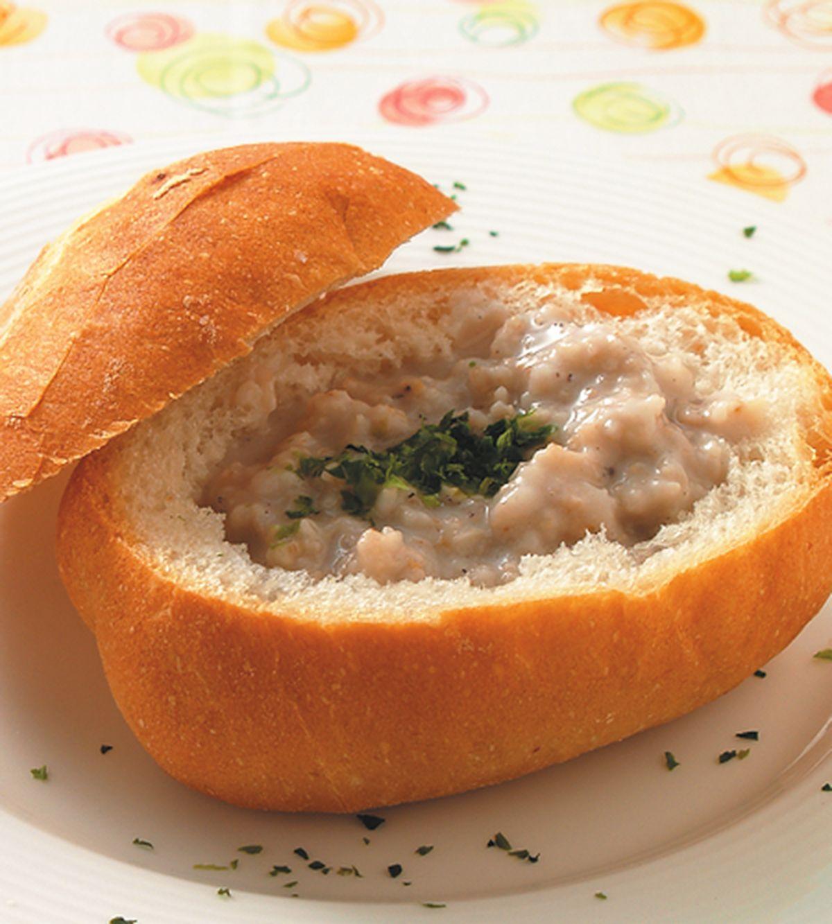 食譜:大麥濃湯麵包盅