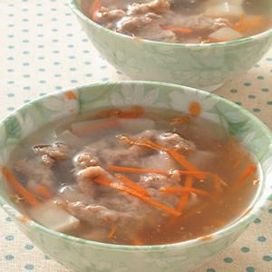 菜頭肉羹湯