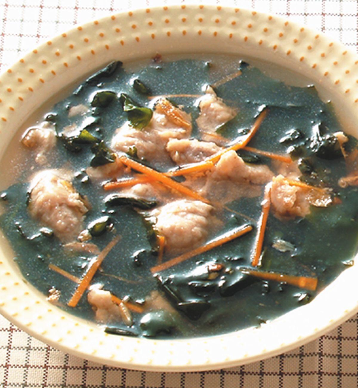 食譜:海帶芽肉羹