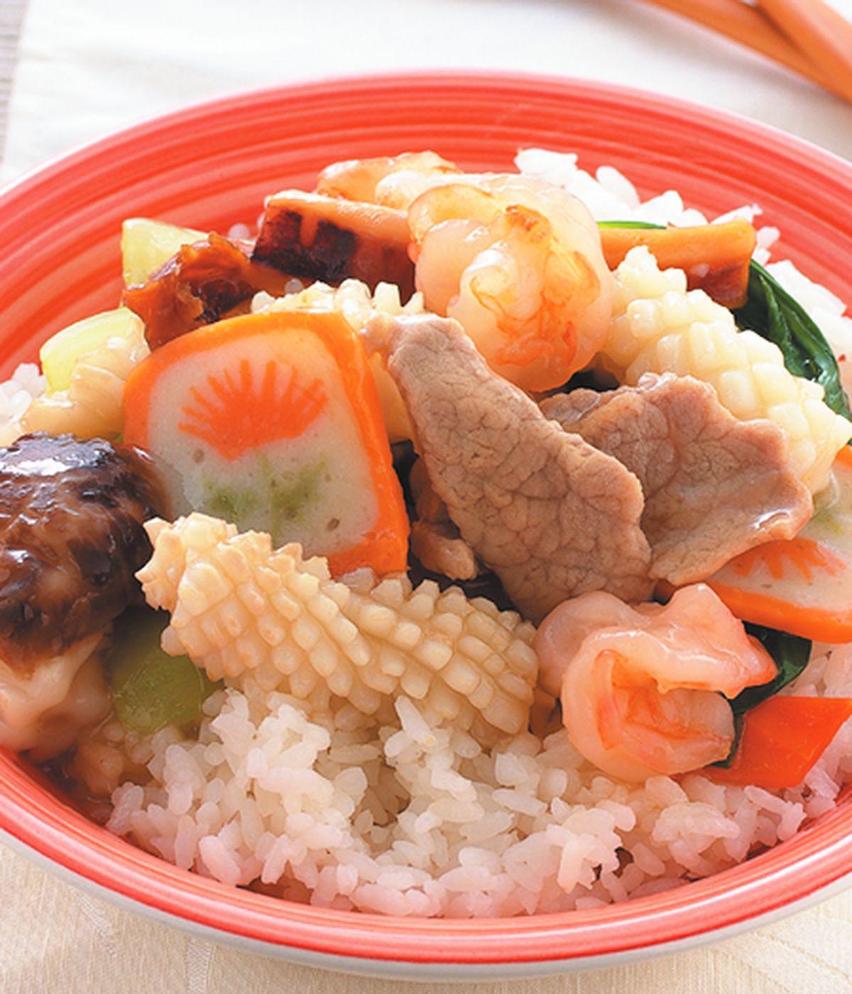 食譜:什錦海鮮蓋飯