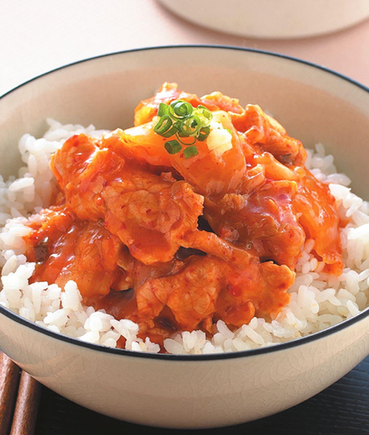 食譜:泡菜燒肉蓋飯