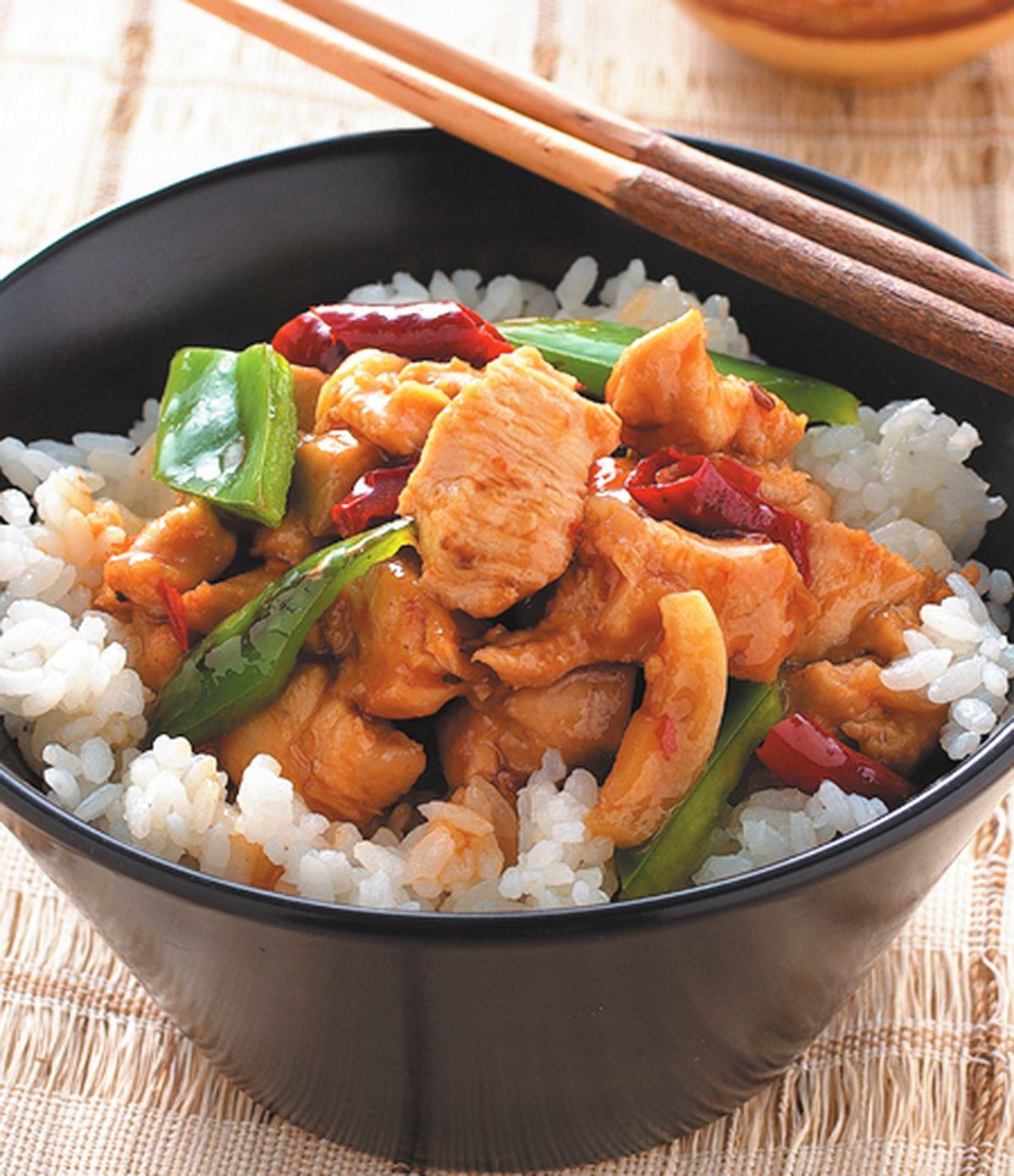食譜:辣子雞丁蓋飯