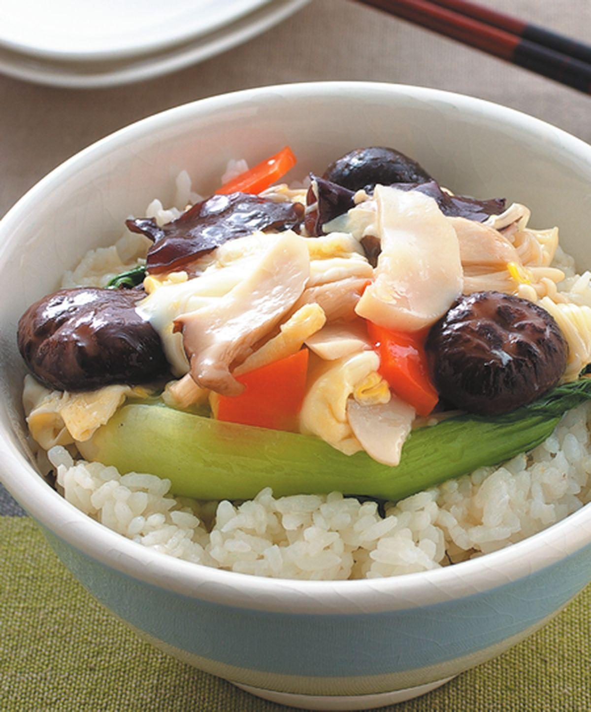 食譜:什錦珍菇蓋飯