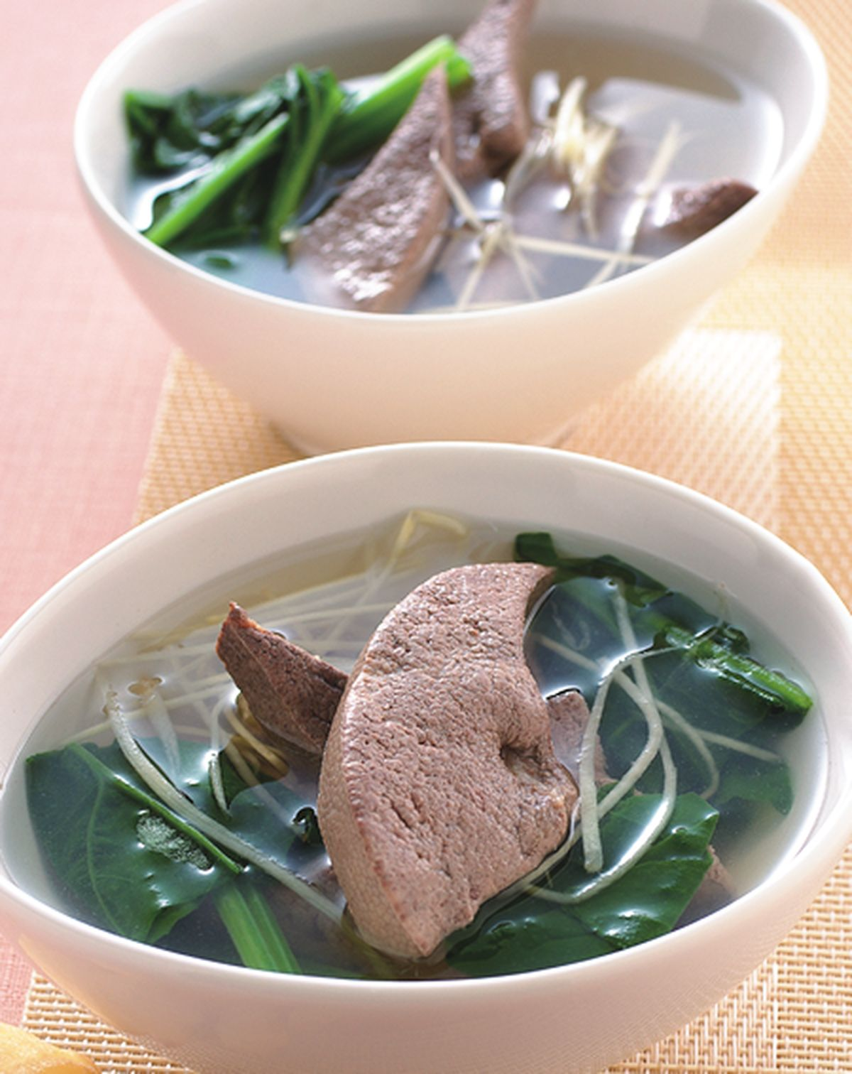 食譜:薑絲豬肝湯