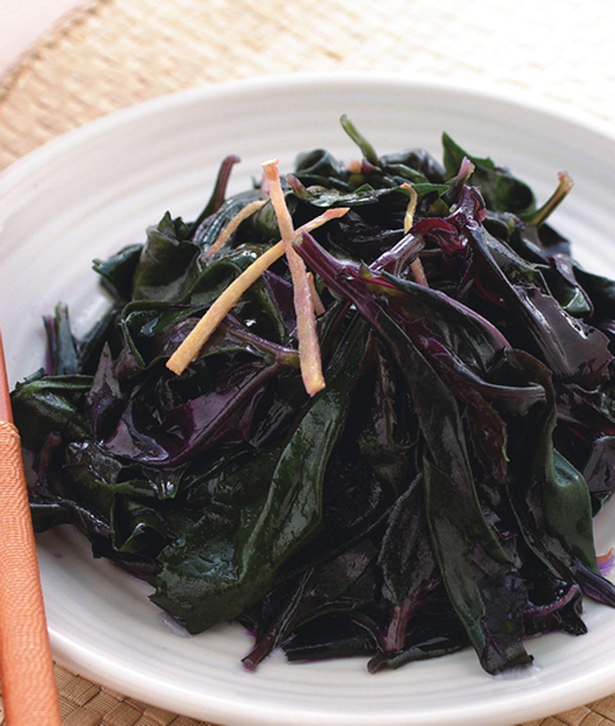 食譜:薑絲炒紅鳳菜