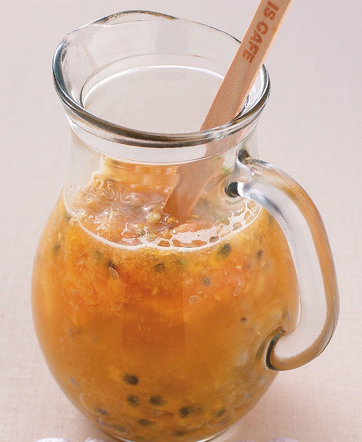 食譜:百香山粉圓果汁