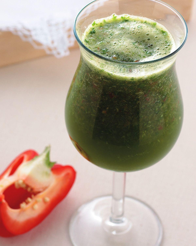 食譜:菠菜甜椒孅綠汁