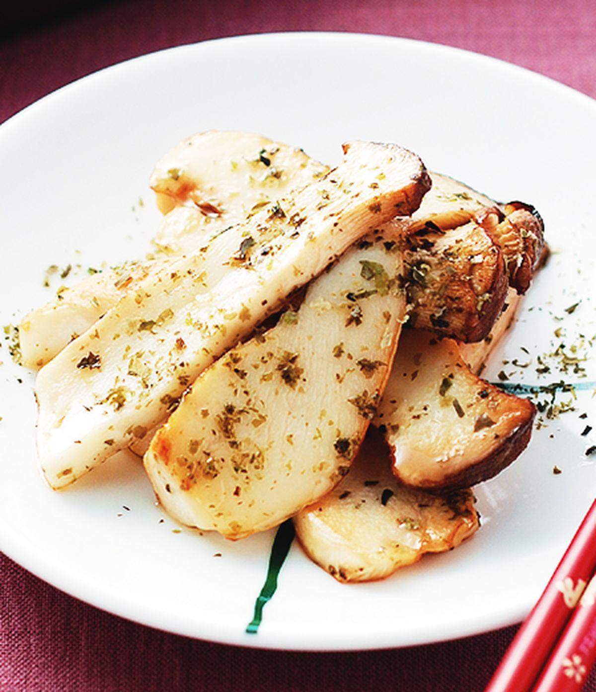 食譜:海苦香煎鮑菇