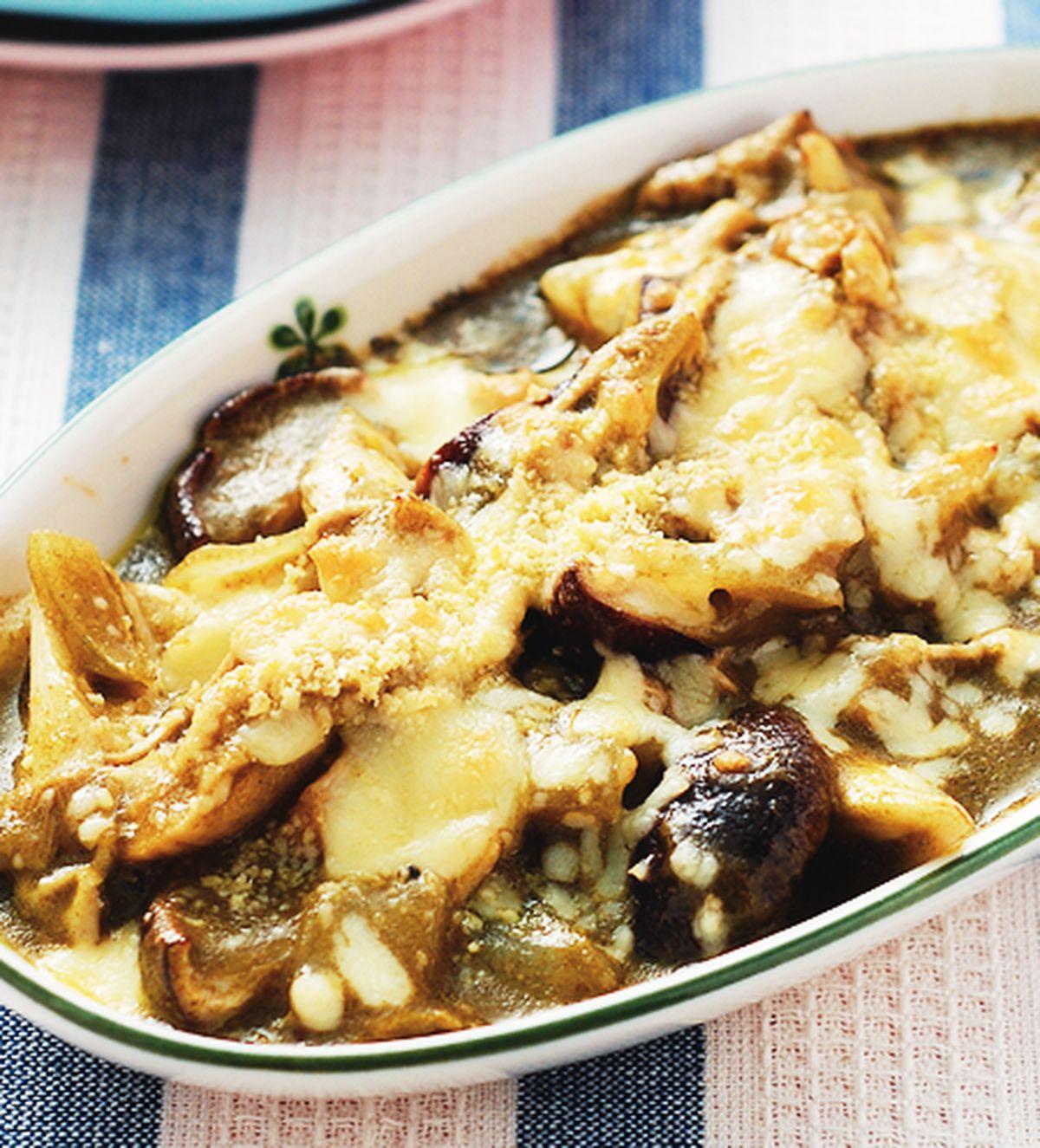 食譜:義式青醬焗野菇