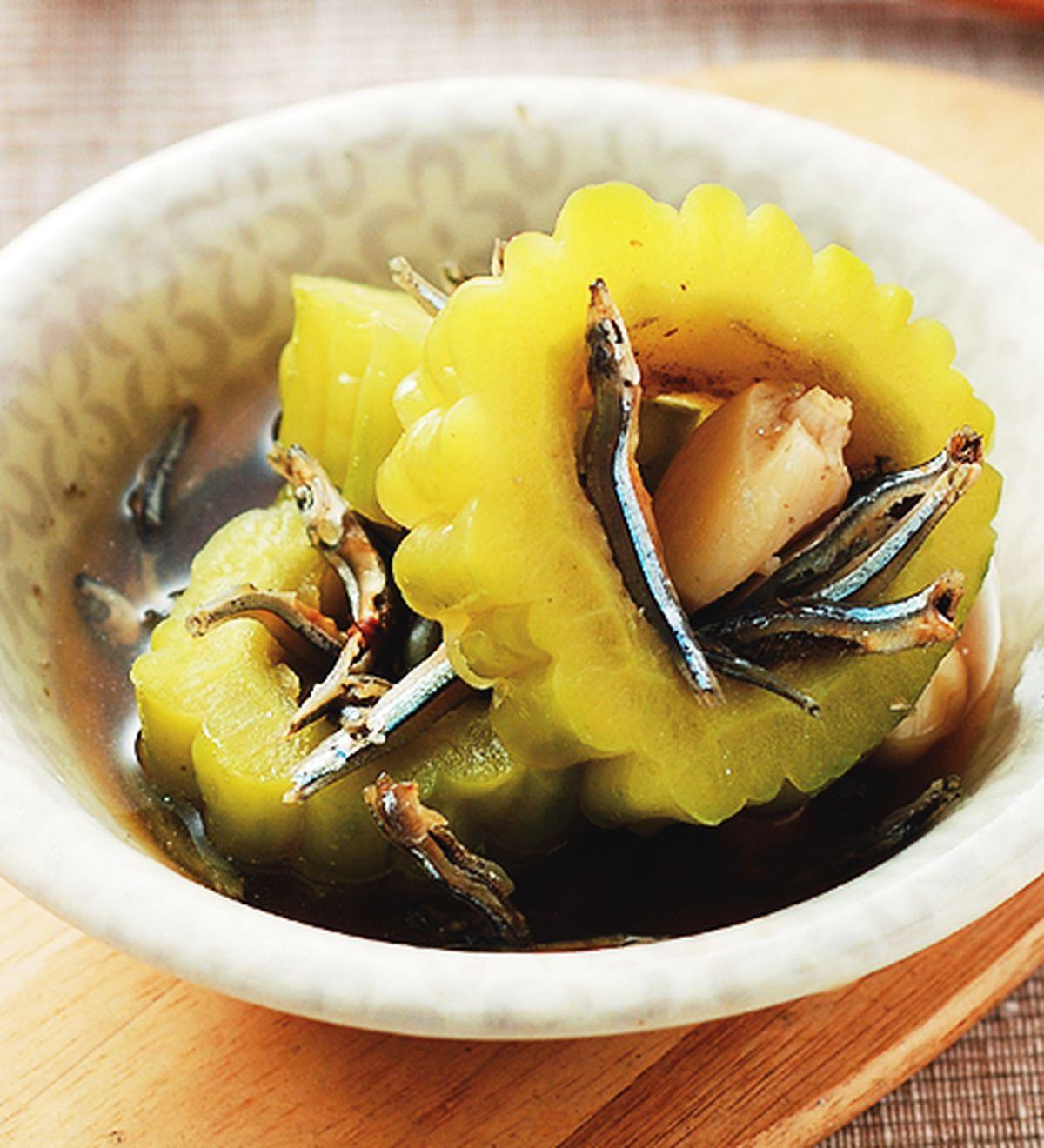 食譜:小魚蒸苦瓜