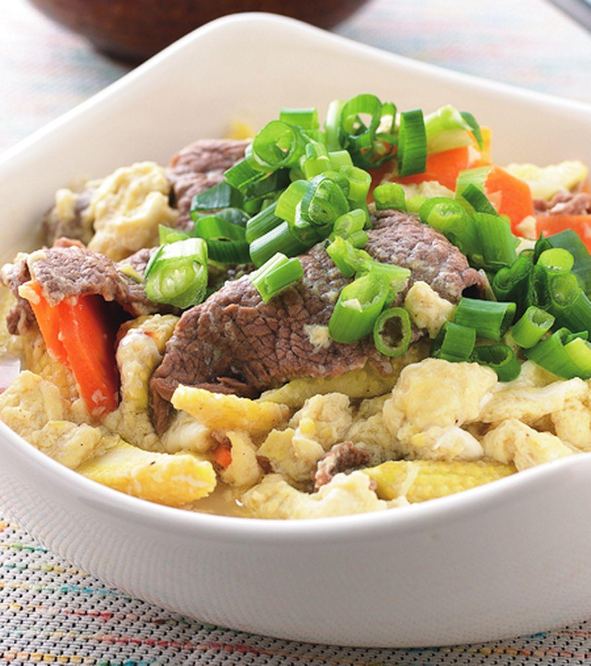 食譜:滑蛋牛肉片