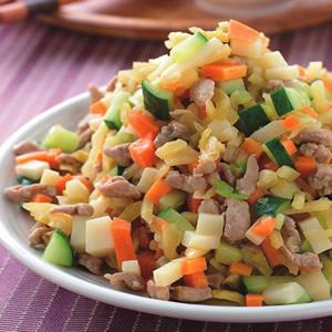 榨菜炒肉丁
