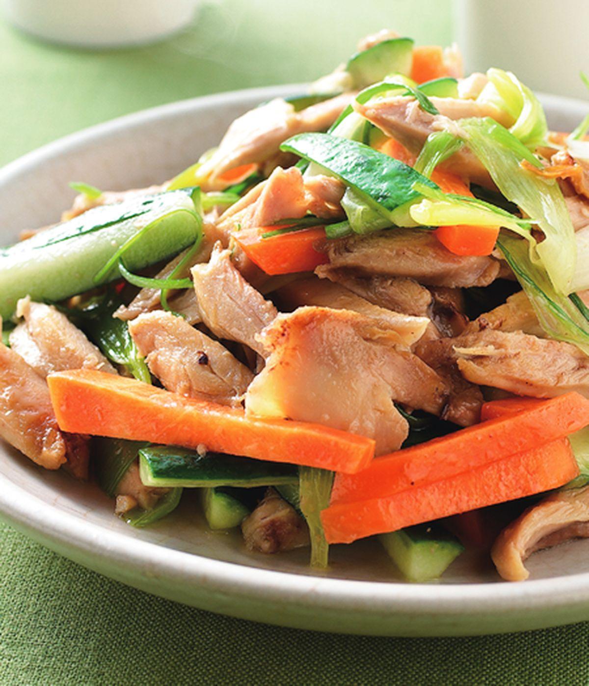食譜:黃瓜炒雞絲