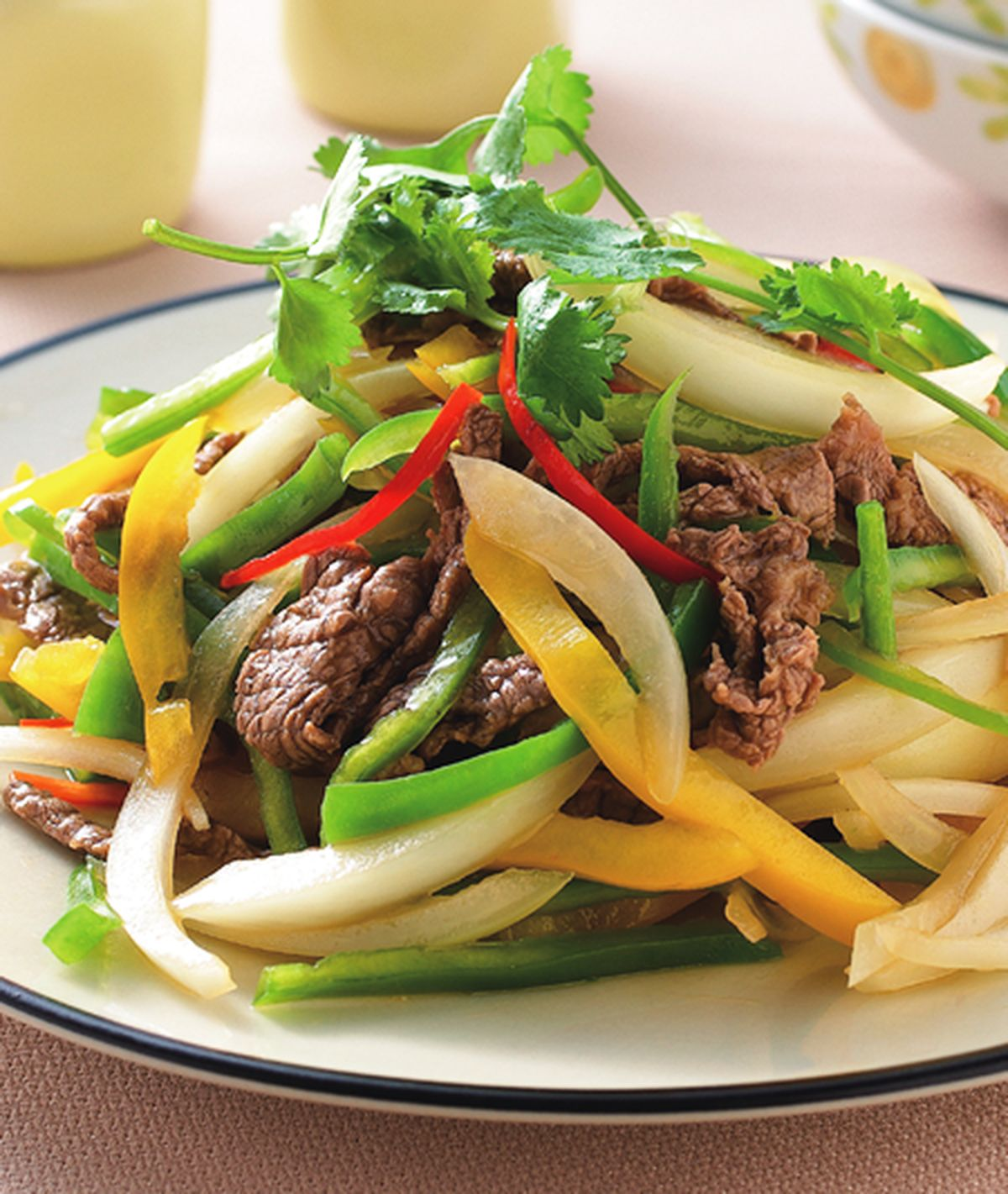 食譜:鮮椒炒牛肉絲