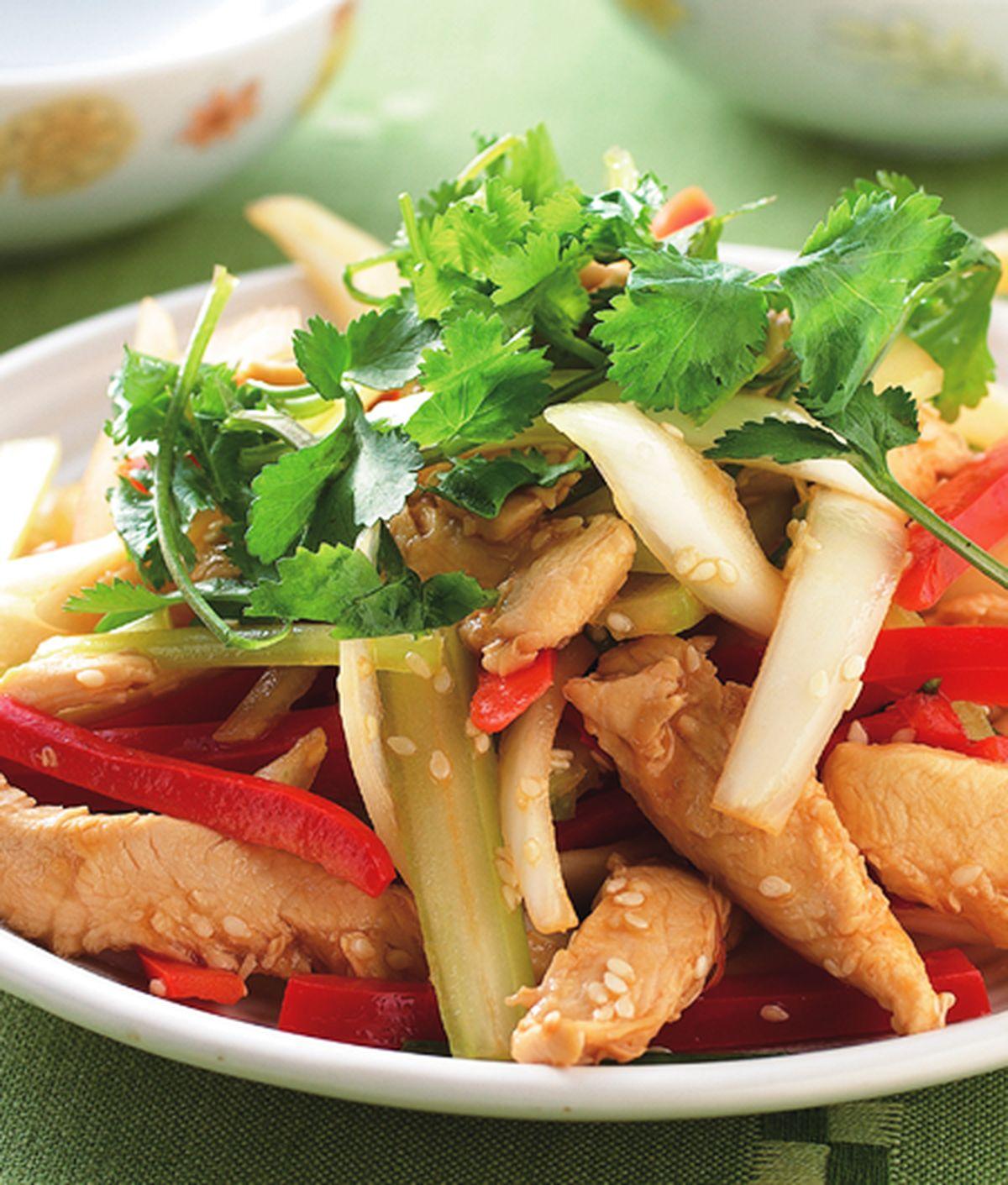 食譜:鮮蔬炒雞柳