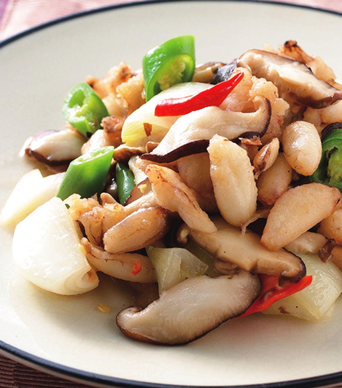 食譜:鮮菇炒蟹肉