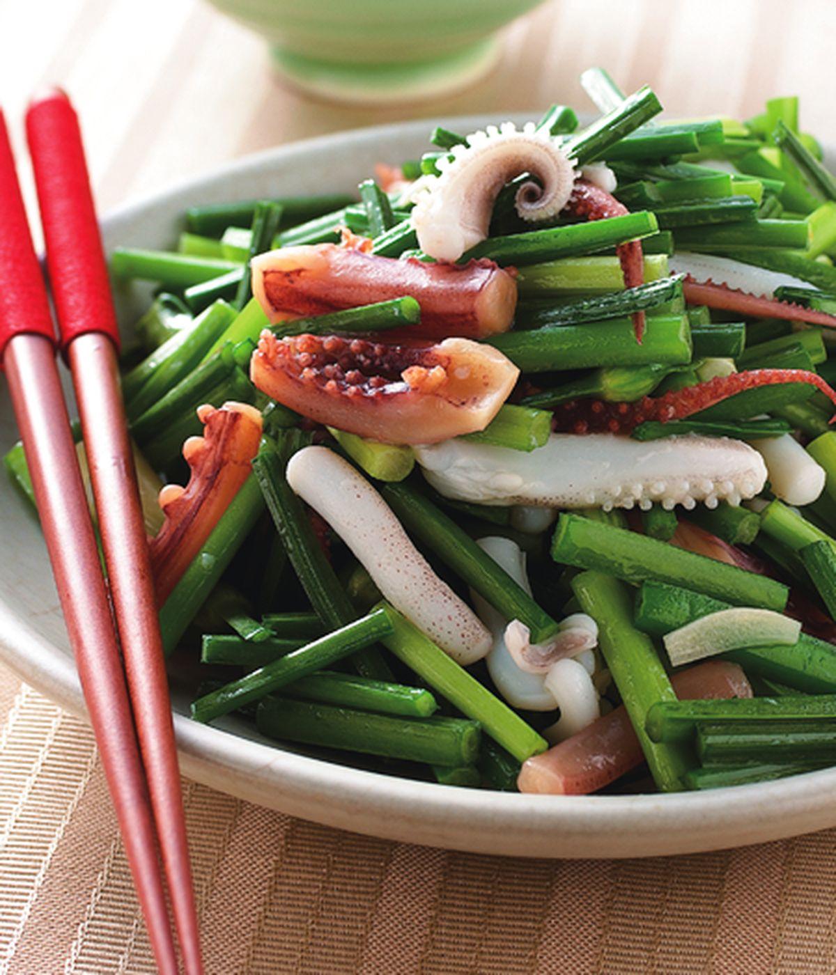 食譜:韭菜花炒雙魷魚