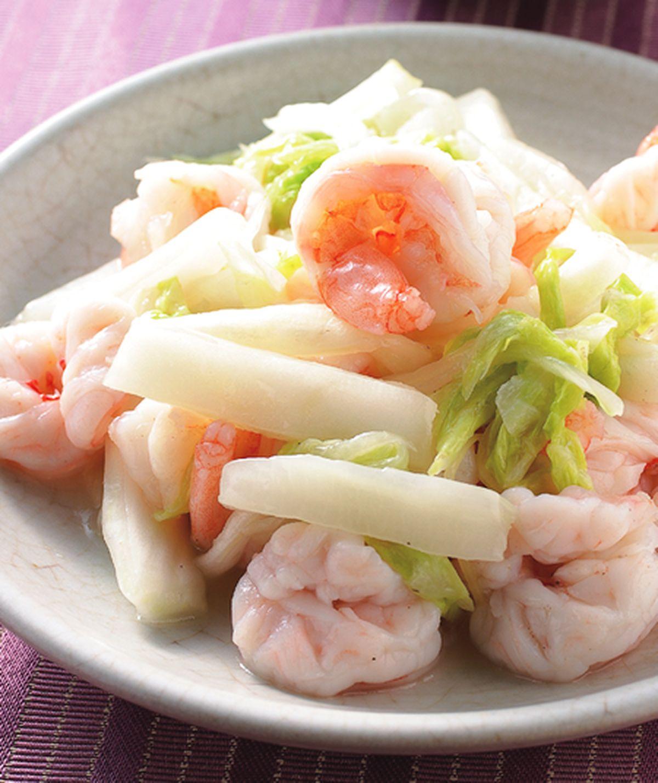 食譜:鹽味炒白菜蝦仁