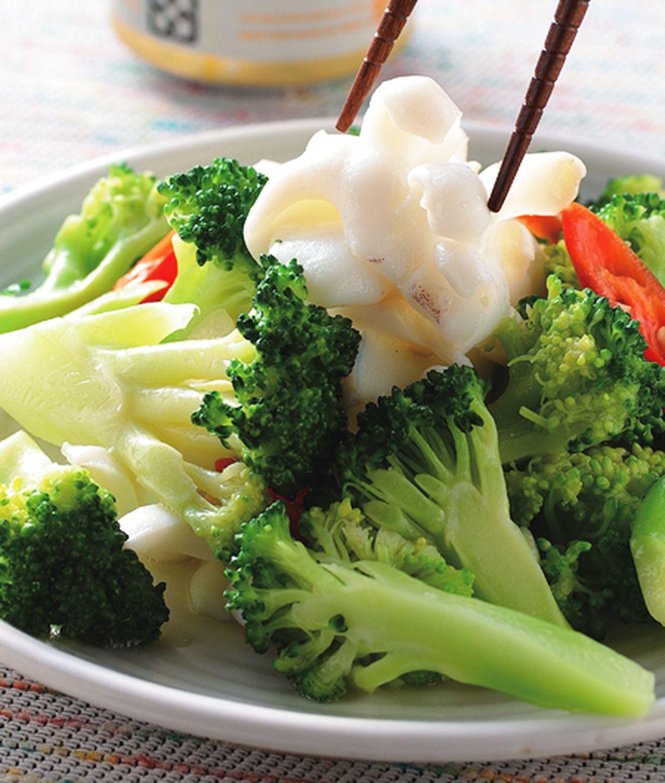 食譜:椰菜炒花枝片
