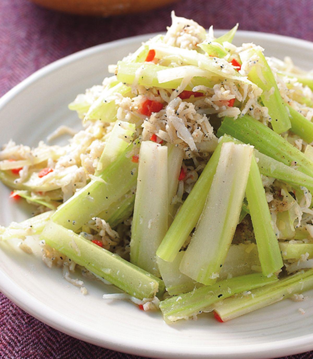 食譜:香芹炒銀魚