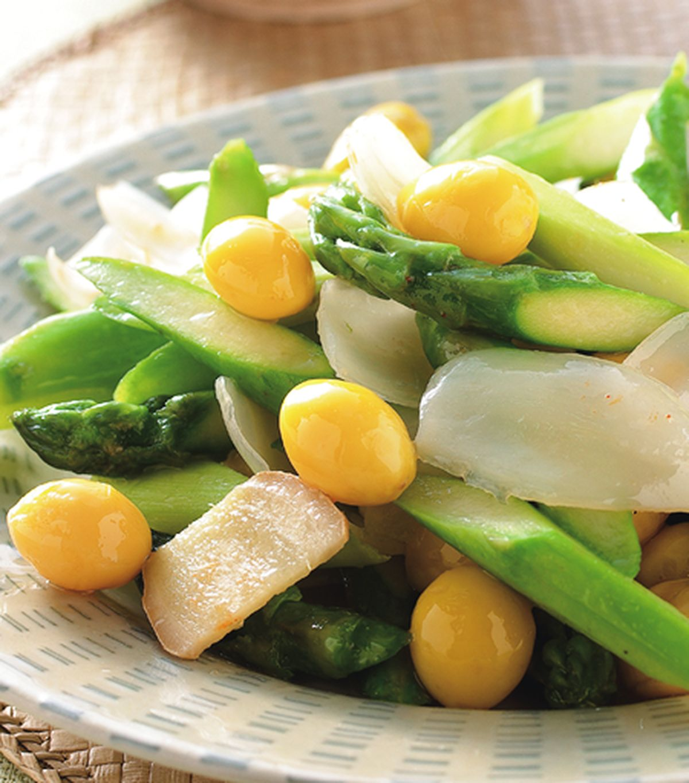 食譜:百合炒蘆筍