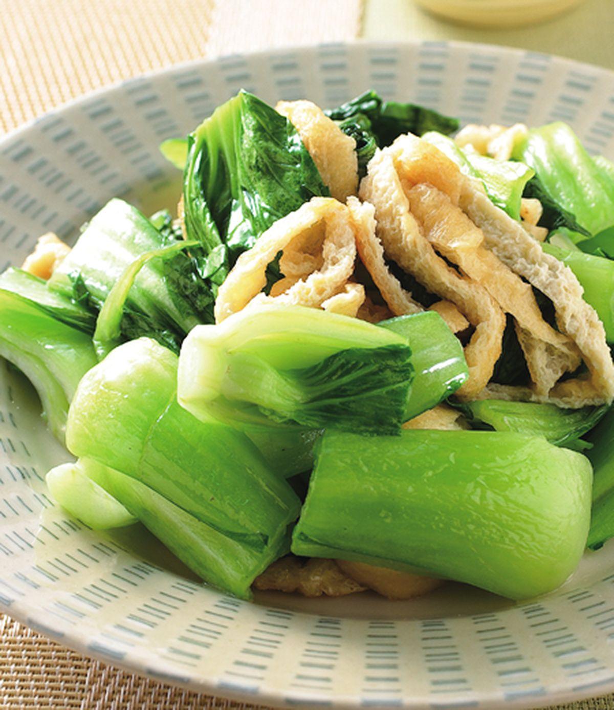 食譜:油揚炒青江菜