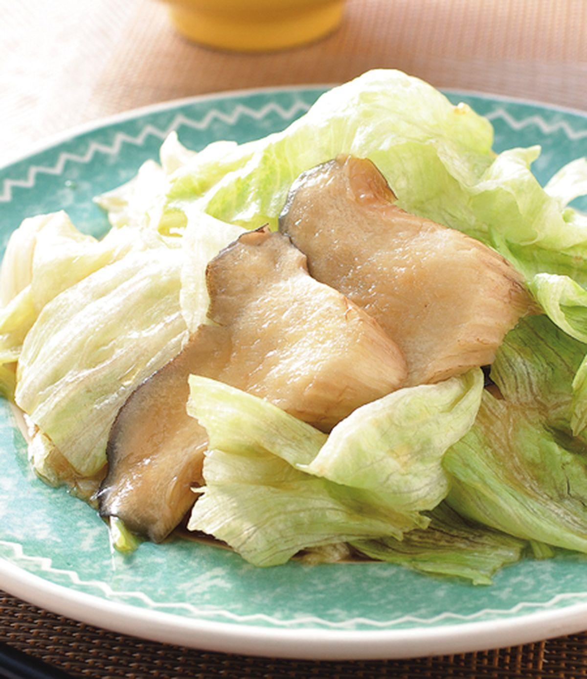 食譜:鮑魚菇蠔油炒美生菜