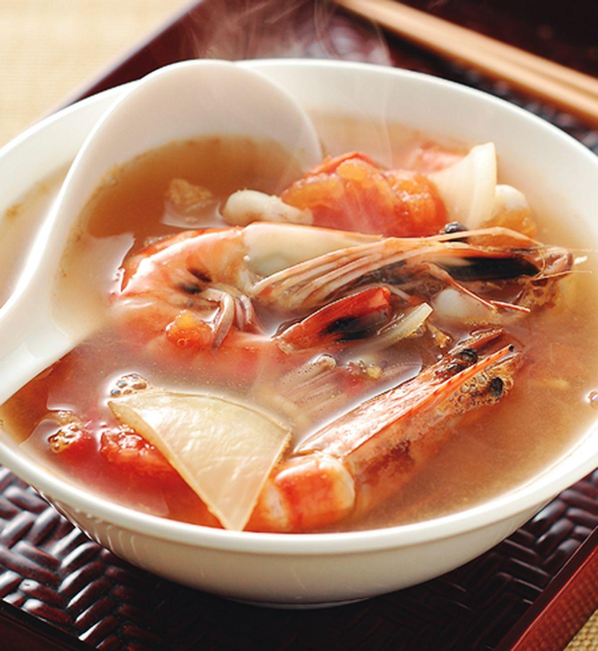 食譜:酸辣海鮮湯(1)