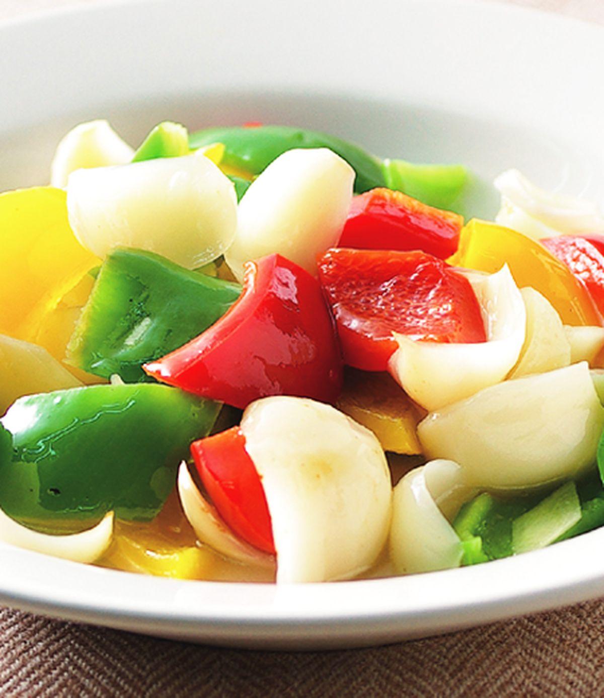食譜:彩椒炒百合